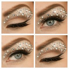 Newyear Eve with a Fairy eye makeup Eye Makeup, Makeup Tips, Beauty Makeup, Hair Makeup, Hair Beauty, Makeup Ideas, Make Up Looks, Rhinestone Makeup, Make Carnaval