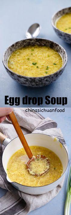 beautiful Chinese egg drop soup