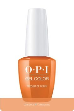 From the OPI Washington DC Fall 2016 GelColor Collection. Peach crème. 0.5 fl. oz. Mani Pedi, Manicure And Pedicure, Opi Washington Dc, Gel Color, How To Feel Beautiful, Peach, Bottle, Flask, Prunus