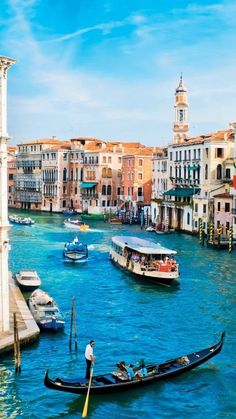 15 Most Beautiful Places To Visit In Italy - Grand Canal, Venice, Italy Places Around The World, The Places Youll Go, Travel Around The World, Around The Worlds, Oh The Places You'll Go, Vacation Destinations, Dream Vacations, Vacation Spots, Vacation Packages