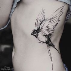 Thanks Nadine #swallow #bird #blacktattooart #onlyblackart #equilattera…