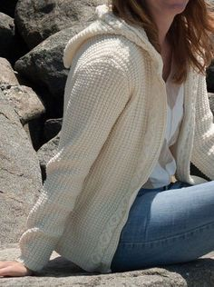 25aee4ba726da Knitting Pattern Hadley Hoodie Cable Cardigan -  ad An XO cable edge adds a  loving