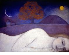Catherine Hyde Artist - OLD PRINTS SALE - SMALL UNMOUNTED Prints woman sleeping beneath signs