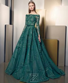 May Society Ziad Nakad Haute Couture Collection Evening Dresses, Prom Dresses, Formal Dresses, Bridal Dresses, Green Wedding Dresses, Wedding Gowns, Couture Collection, Dress Collection, Elegant Dresses