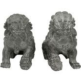 Found it at Wayfair - 2 Piece Sitting Foo Dog Statue Set