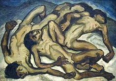 The Dead Children  - Oswaldo Guayasamin - Expressionism, 1983