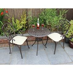 Bentley Garden Furniture 3 Piece Cast Aluminium Bistro Set Table & 2 Arm Chairs http://www.uk-rattanfurniture.com/product/btm-rattan-garden-furniture-sets-patio-furniture-set-garden-furniture-clearance-sale-furniture-rattan-garden-furniture-set-table-chairs-sofa-patio-conservatory-wicker-new/