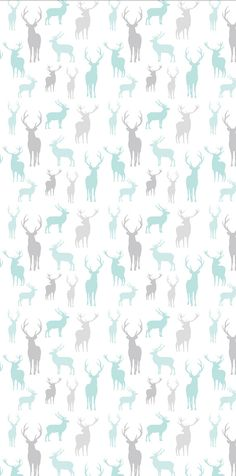 Wallpaper, Removable Wallpaper, Stag wallpaper, Stag print, Peel and stick wallpaper, Blue wallpaper, self adhesive wallpaper, grey and blue