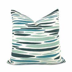 Lulu DK Island Sea Green Aqua Teal Pillow Cover