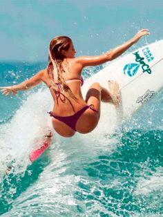 Girls surf too