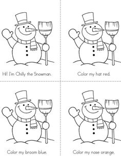 Chilly the Snowman Mini Book from TwistyNoodle.com  I like the size of this activity!