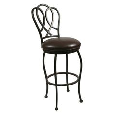 """Oxford Barstool with Ford Brown Fabric in Autumn Rust Height: 30"""" by Pastel Furniture. $249.00. 5-step powder-coat Autumn Rust finish inhibits rust. Seat height: 30 inches. Dimensions: 18W x 22.25D x 46.875H inches. Fully welded, heavy-duty steel construction for durability. Ford Brown faux leather seat, full 360-degree swivel. OX 225-30"""" -AR-945 Height: 30"""" Features: -Barstool.-Ford brown fabric.-Available in 26'' counter height or 30'' bar height barstool.-Sturdy legs and foo..."""