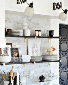 It's amazing what you can find at Goodwill and it just takes a little vision to give new life to something old and unwanted. These accordion lamps are a great example and happen to be one of my most favorite things about our kitchen makeover. (Link in profile) #BHkitchenreno