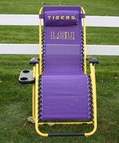 LSU Tigers  Zero-Gravity Chair by College Covers #zulily #zulilyfinds