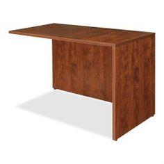 Lorell Essentials Series Reverse Return Shell 48 W Mahogany Home Office Desks, Home Office Furniture, Living Room Furniture, Coastal Furniture, Shabby Chic Furniture, Modern Furniture, Armoire, Laminate Furniture, New Interior Design