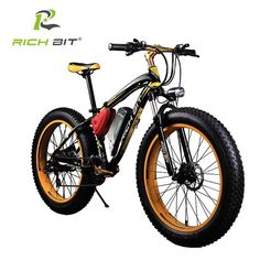 RichBit Fat Tire Electric Beach Cruiser 7 Speed