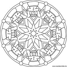 Mandala mit Weihnachtsengeln