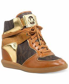 MICHAEL Michael Kors Nikko High Top Wedge Sneakers Shoes - Sneakers - Macy s eac408c0190