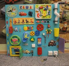 Busy board for girls Busy Board baby Montessori toy Activity board Baby Sensory board toddler Wooden toys Gift to baby Baby Sensory Board, Toddler Activity Board, Sensory Wall, Sensory Boards, Busy Boards For Toddlers, Learning Toys For Toddlers, Toddler Learning, Kids Playing, Diy Busy Board