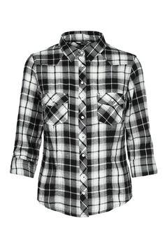 652cf10f9a9903 #sweater #blackandwhite #musthave #TALLYWEiJL Camicia A Quadri, Bianco E  Nero