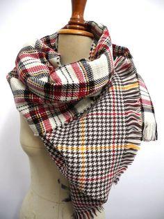 Plaid scarf SALE plaid Blanket Scarf tartan scarf by peacockland