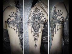 I love this form/shape and placement,  dotwork