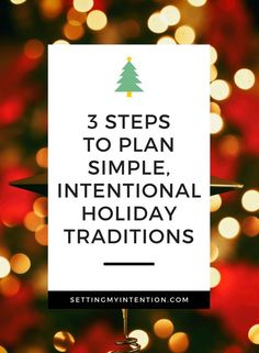 It's not too late to plan simple, intentional Christmas traditions. Three steps to plan simple Christmas traditions for this year and the years to come! Saving Money For Christmas, All Things Christmas, Christmas Gifts, Christmas Ideas, Holiday Money, Christmas History, Holiday Time, Family Christmas, Christmas Recipes