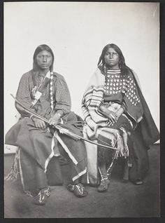 Satanta's Daughter and Young Man. He is identified in Nye as Eonah-pah (Trailing-the-Enemy), and she, as Alma (p358-359).