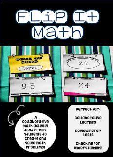 Turtle in a Tutu Teacher: Flip It Math- A Collaborative Math Activity
