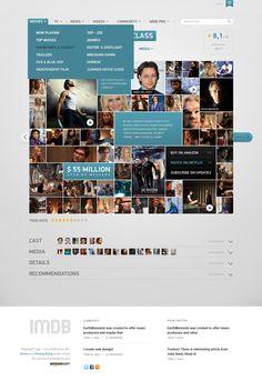 IMDB Filmpage Concept by Vladimir Kudinov, via Behance