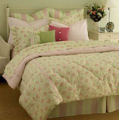 Pink and Green Toile Bedding | Price: $ 69.99 only
