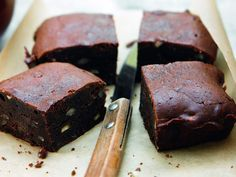 Brownie 1000 Calories, Blondie Brownies, Cordon Bleu, Chocolate Desserts, Cooking Time, Sweet Recipes, Bakery, Good Food, Gastronomia