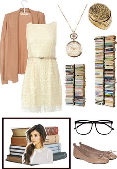"""the cozy, cute & classy librarian"" by luvsfashionchic ❤ liked on Polyvore"