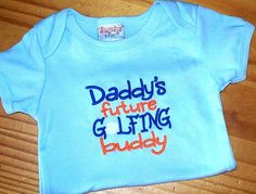 Golf Baby Boy Onesie  Daddy's future golfing by LittleTexasBabes, $18.00