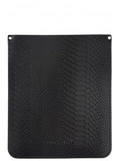Brit-Stitch Black Croc Print iPad Sleeve
