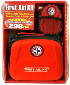 Be Smart Get Prepared Total Resources International First Aid Kit Combo Pack 298 Pieces * Click image to review more details.