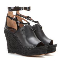 Givenchy - Embellished espadrille wedge sandals - mytheresa.com