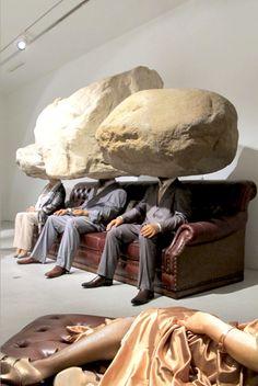 Sun Yuan and Peng Yu. #artwork http://www.pinterest.com/TheHitman14/artwork-weirdcool-%2B/
