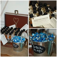 Sweet wedding favors for a simple wedding reception.