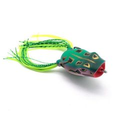 1 PCS 11G SILICONE TOPWATER FROGS DESIGN BAITS RANDOM COLOR
