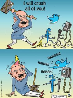 """So, Shushilji has threatened that he will """"crush digital media"""" if they keep provoking his party by their antics. Then , made a U-turn on his statement. Well, as always, in case of Sushilji, it`s not simply a """"slip of tongue"""" but """"slip of sanity"""" !!"""