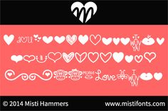 MF Love Dings font by Misti's Fonts - FontSpace