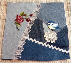 Image result for denim crazy quilts