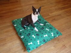 No Sew Dog Bed - easy!