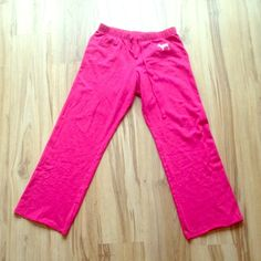 SOLDVS boyfriend sweats Like new, no stains tears or rips. small but fit like the traditional xs bf sweats. No pockets. Nothing written on the back. PINK Victoria's Secret Pants