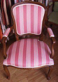 Vente en ligne par l'atelier de la rime des matières de kits de fournitures de tapissier pour tapisser fauteuil Louis XV avec mousse