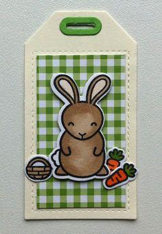 Tag tags critters bunny bunnies basket carrot, Lawn Fawn Hoppy Easter stamp set, MFT Blueprints Tag-builder 5 Die-namics #mftstamps - Ostern Hasen Karte - Påske hare kort tag - JKE