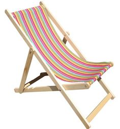 Our karting pink deckchair is a great gift for those who like cheerful summer colours! #deckchair #stripes #TSC