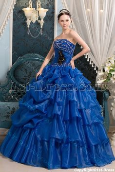 1st-dress.com Offers High Quality Royal Blue Spring Quinceanera Ball Dress in 2013,Priced At Only US$200.00 (Free Shipping)