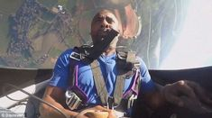 Scary: Idris Elba was asked to perform a number of 360-degree loops and rolls in an aircraft 4,000ft in the air